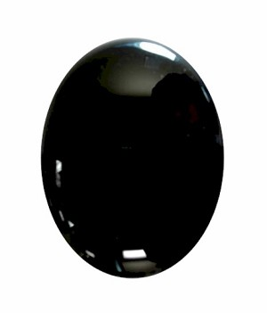 25x18mm Black Onyx Flat Back Gemstone Cabochon 671x