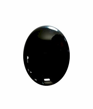 8x6mm Black Onyx Flat Back Cabochon 674x