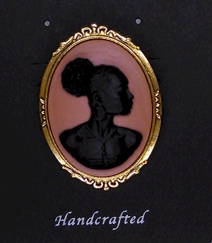 African American Woman Gold Brooch Pin Black and Brown African Jewelry 719x748x