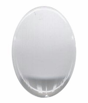 Clear Plastic 30x22mm cabochon 800q