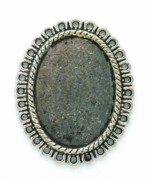 25x18mm Antique Silver Cameo Cabochon Pendant Setting Frame 831x