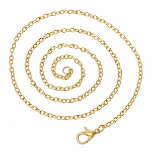 Gold 18 inch Cable Chain Jewelry Necklace with Lobster Clasp Link Size 3x2mm  833x