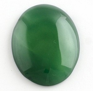 40x30mm Green Agate Flat Backed Loose Gemstone Cabochon 859x