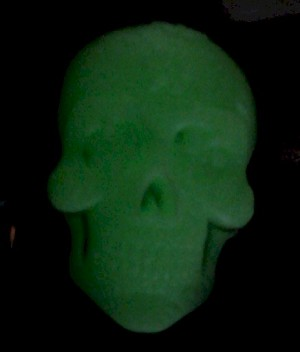 40x30mm GLOW IN the DARK Sugar Skull Calavera Mexican Resin Cameo 911x