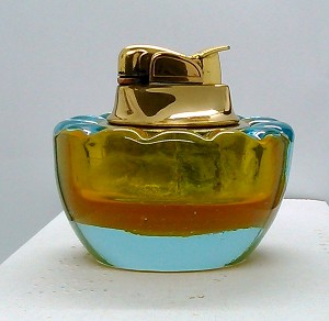 SOLD - - Vintage Art Sommerso Glass Mid-Century Murano Table Lighter