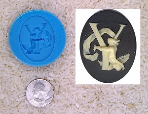 Food Safe Silicone Cameo Mold The LETTER Y of the alphabet for candy soap