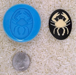 Astrology Zodiac Sign Cancer Crab Food Safe Silicone Cameo Mold for candy